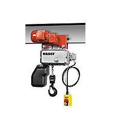 Palan électrique à chaîne 62/05H avec chariot électrique Hadef à partir de :