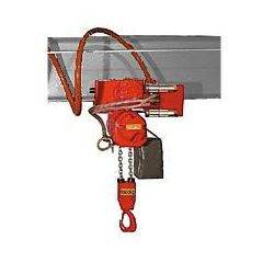 Palan pneumatique 70/06 APP avec chariot pneumatique à avance par chaîne Hadef à partir de :